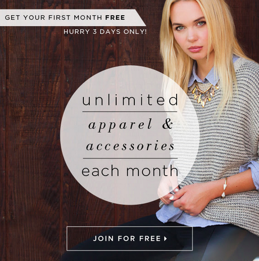 3 Days Only - First Month Free of Le Tote