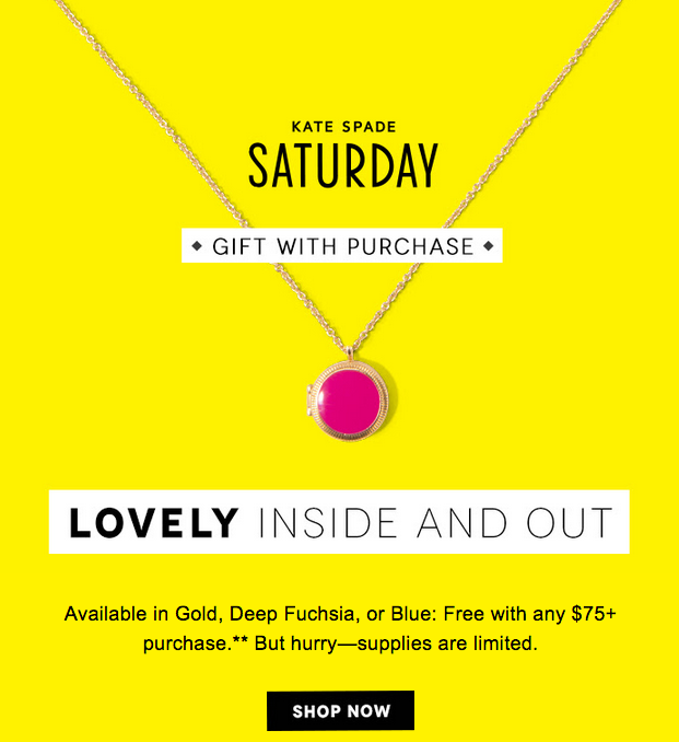 Get a Free Kate Spade Locket with Birchbox Purchase