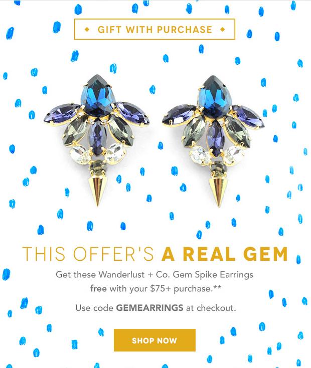 New Birchbox GWP - Free Wanderlust + Co Earrings