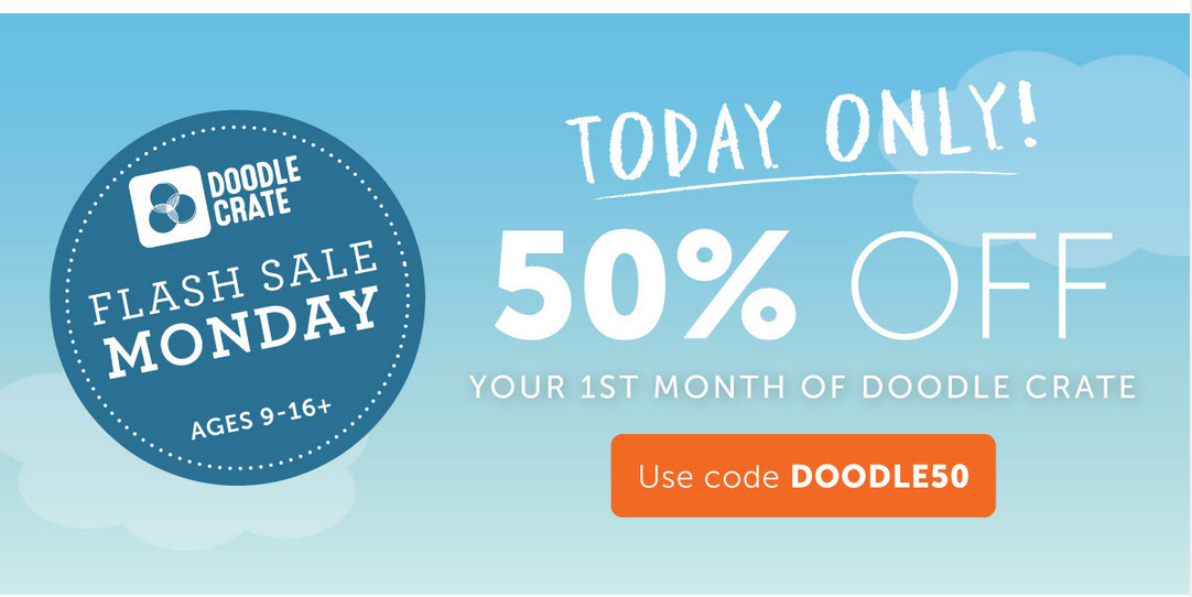Doodle Crate 50% Off Coupon