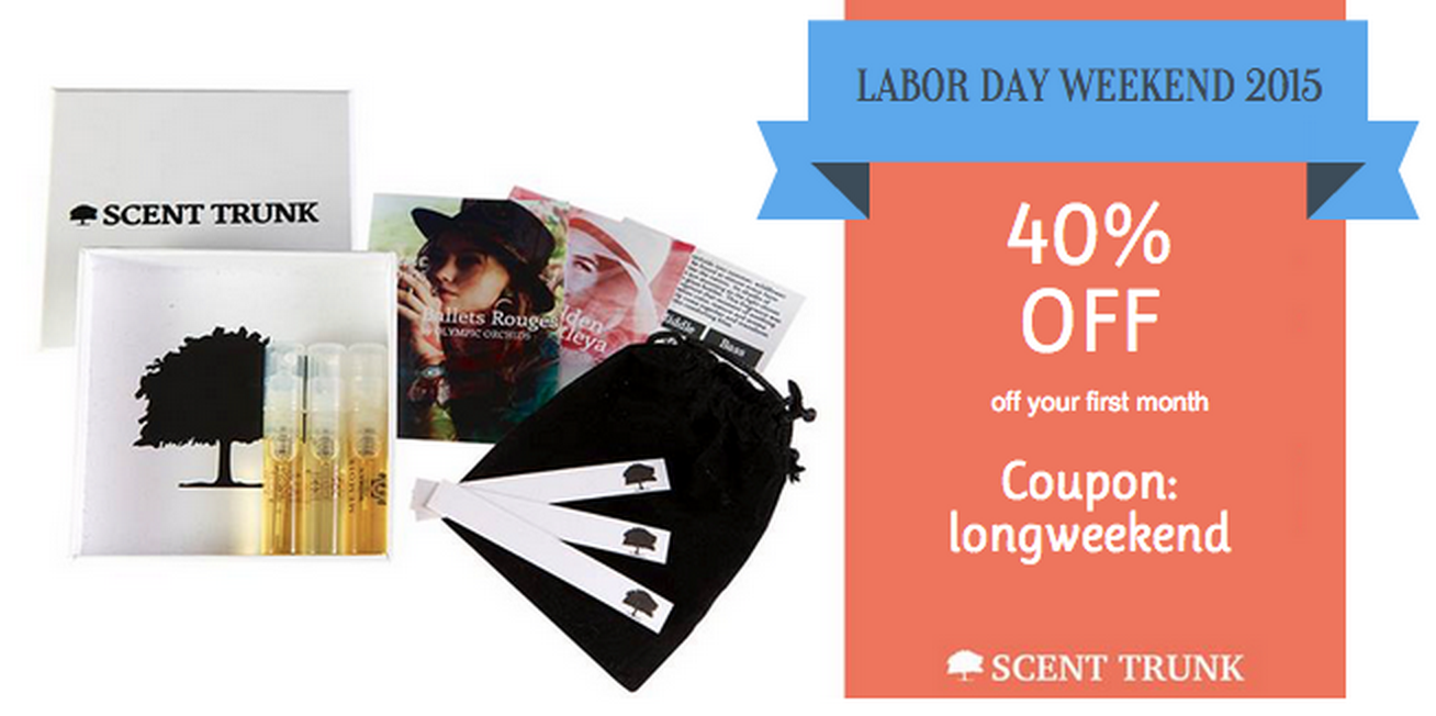Labor Day Sale at Scent Trunk!