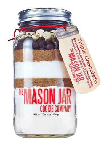 Triple Chocolate Cookie Mix in a Mason Jar
