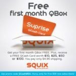 FREE First Squix Box + FREE Gift Card – Just Pay $4.95 Shipping