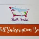 Bath Sorbet Subscription Box Review + Coupon – Fall 2016