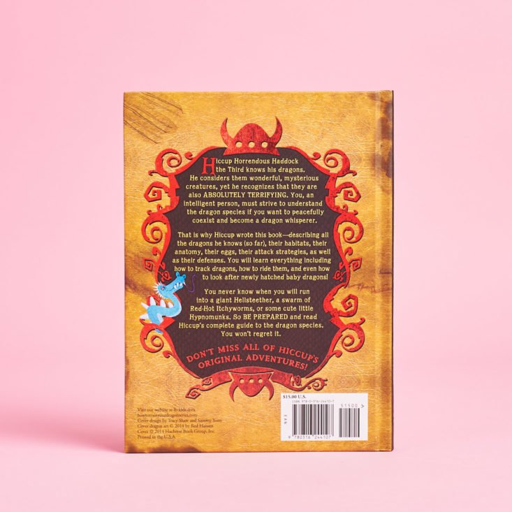 how to train your dragon complete book of dragons back cover