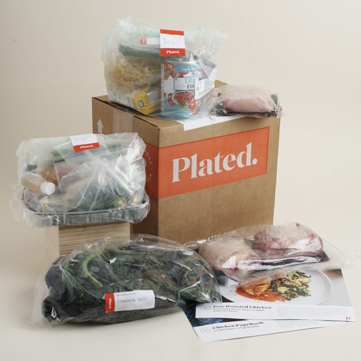 full contents of plated box