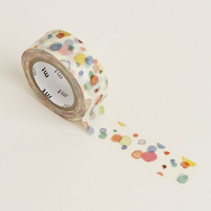 kamoi watercolor washi tape unrolled
