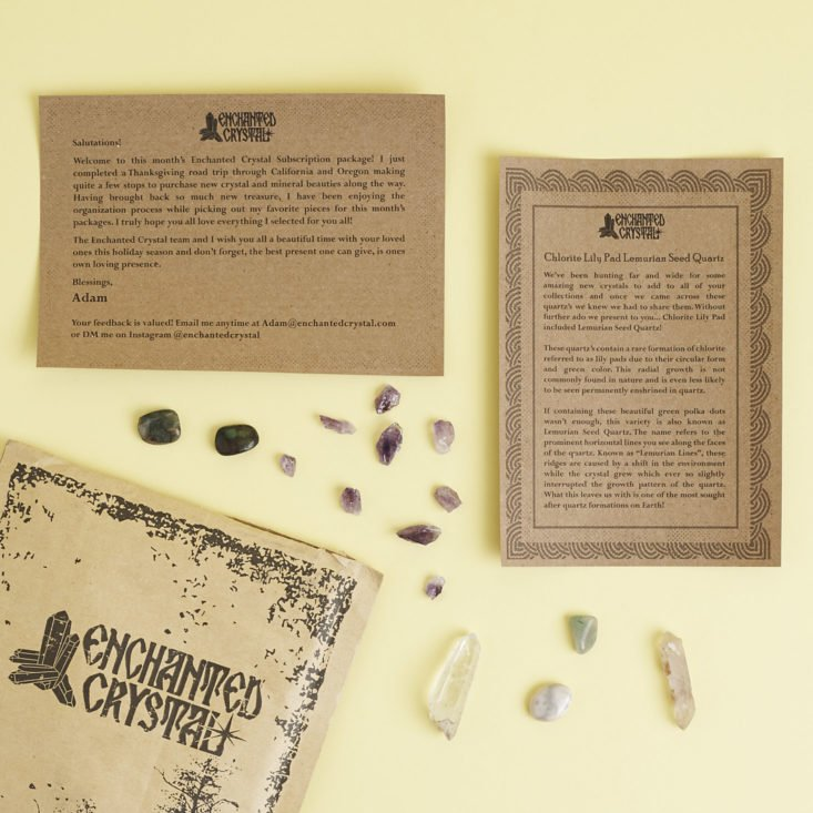 Contents of Enchanted Crystal December 2017