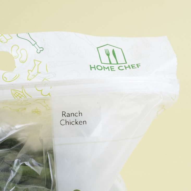 ranch chicken home chef bag