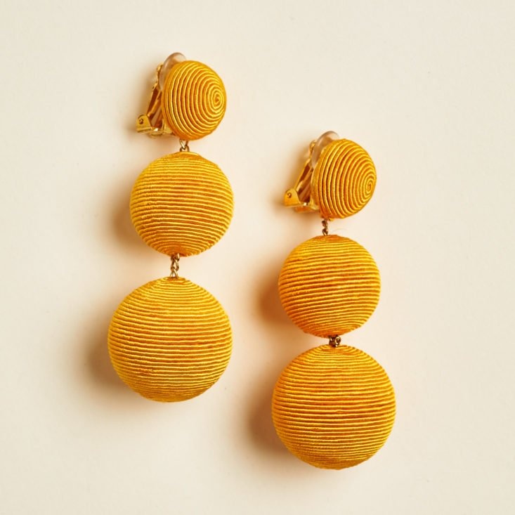 gold fiber earrings