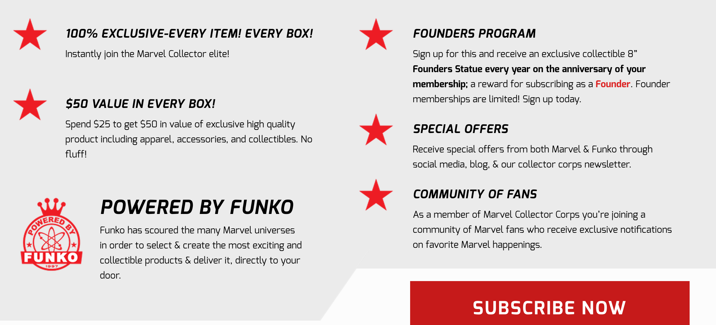 New Subscription Box - Marvel Collector Corps! Details