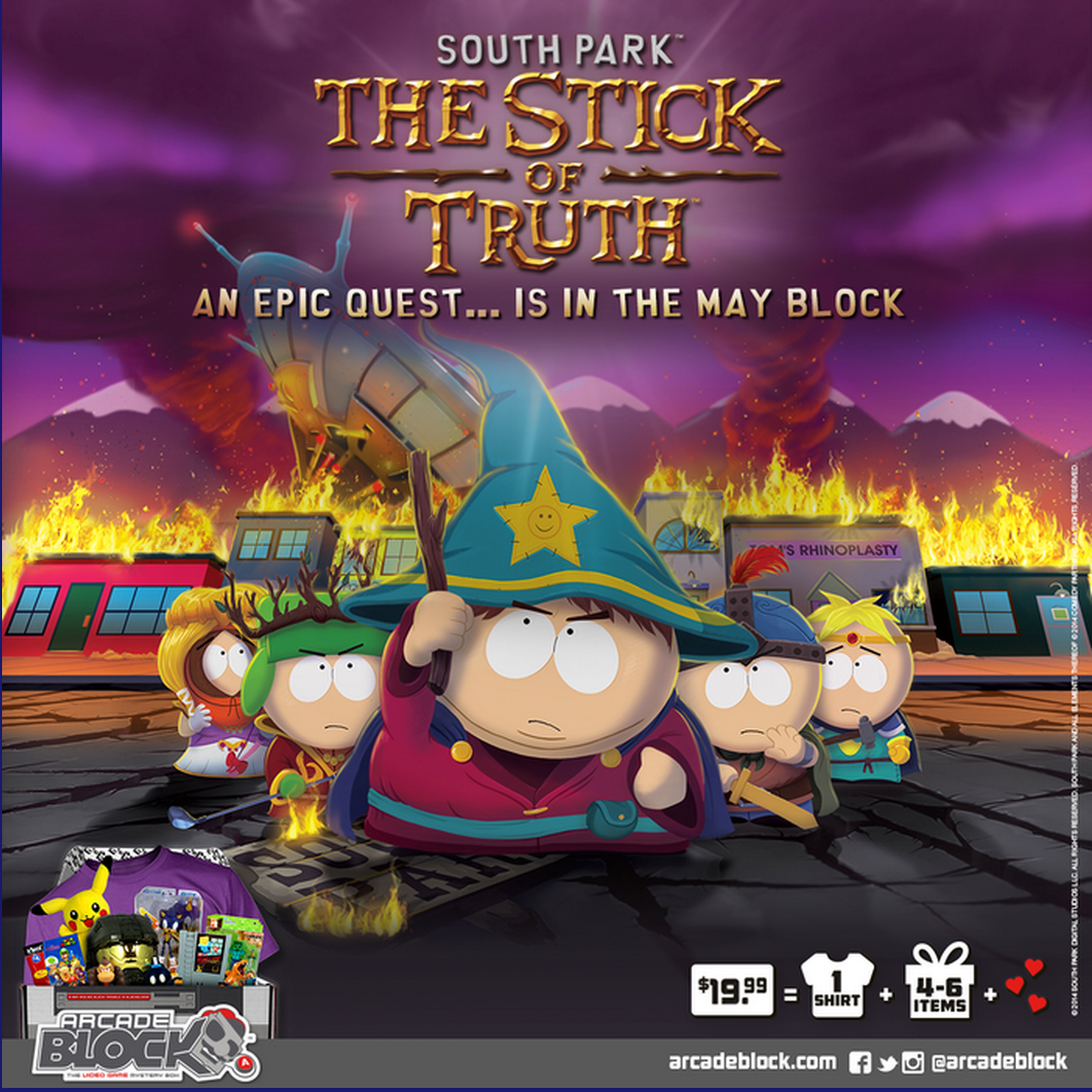 Arcade Block May 2015 Spoiler + Coupon Stick of Truth