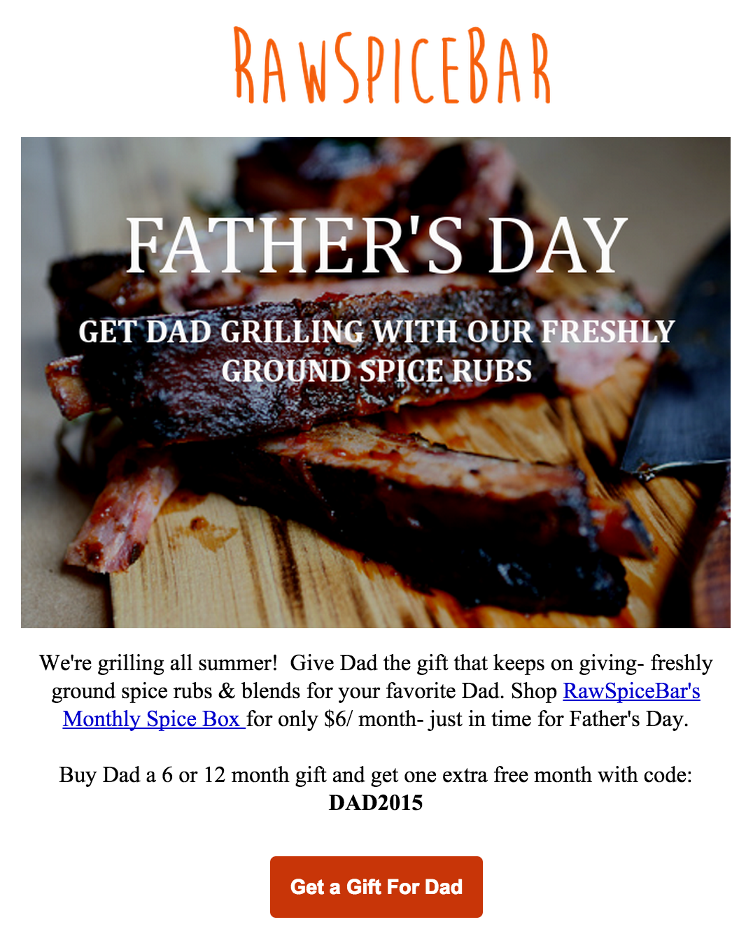 RawSpiceBar Father's Day Subscriptions Coupon