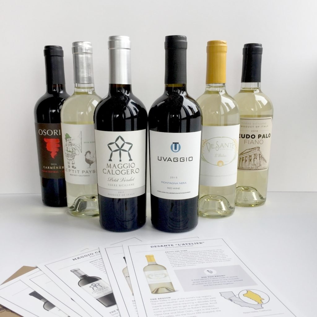blue apron wine subscription box