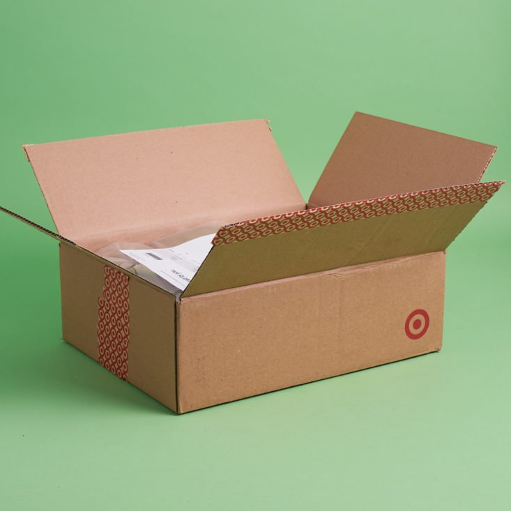 Exterior of the Target Arts and Crafts November 2017 Box with flaps open