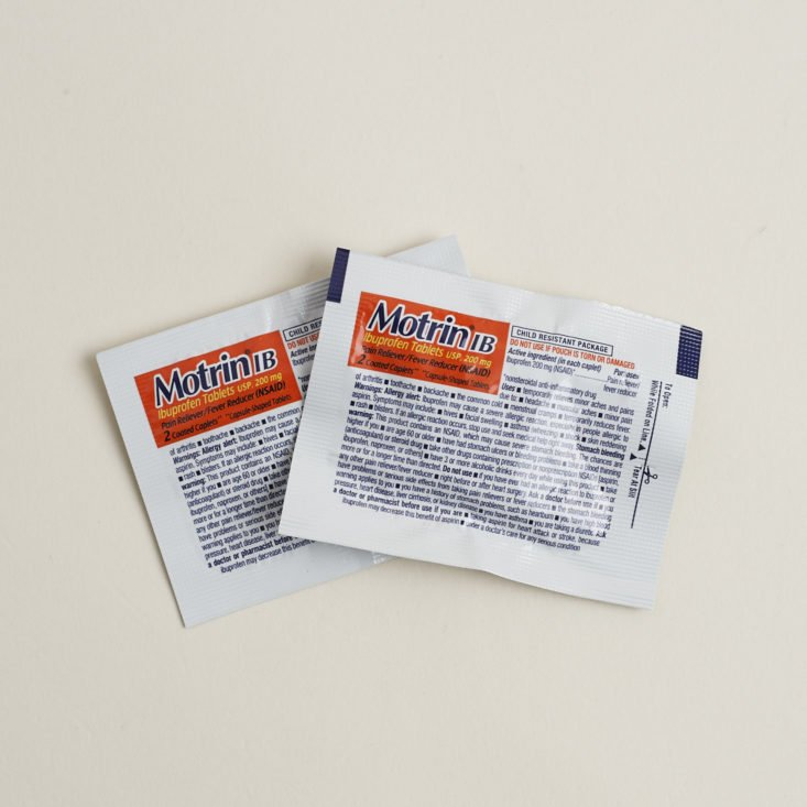 Two packets of Motrin IB