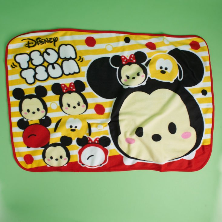 Opened Disney Tsum Tsum Mickey Mouse Fleece Lap Blanket