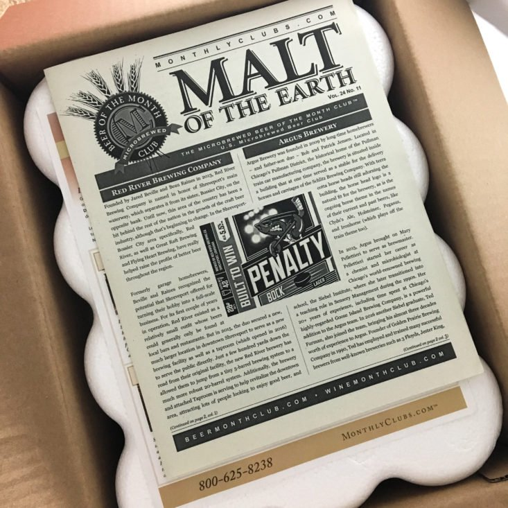 The Microbrewed Beer of the Month Club November 2017 - Box Inside