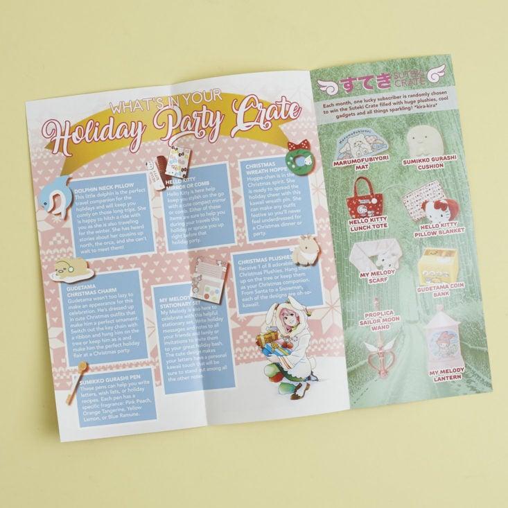 content list of Doki Doki info booklet for December 2017