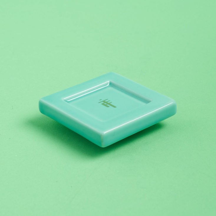 turquoise tea infuser stand