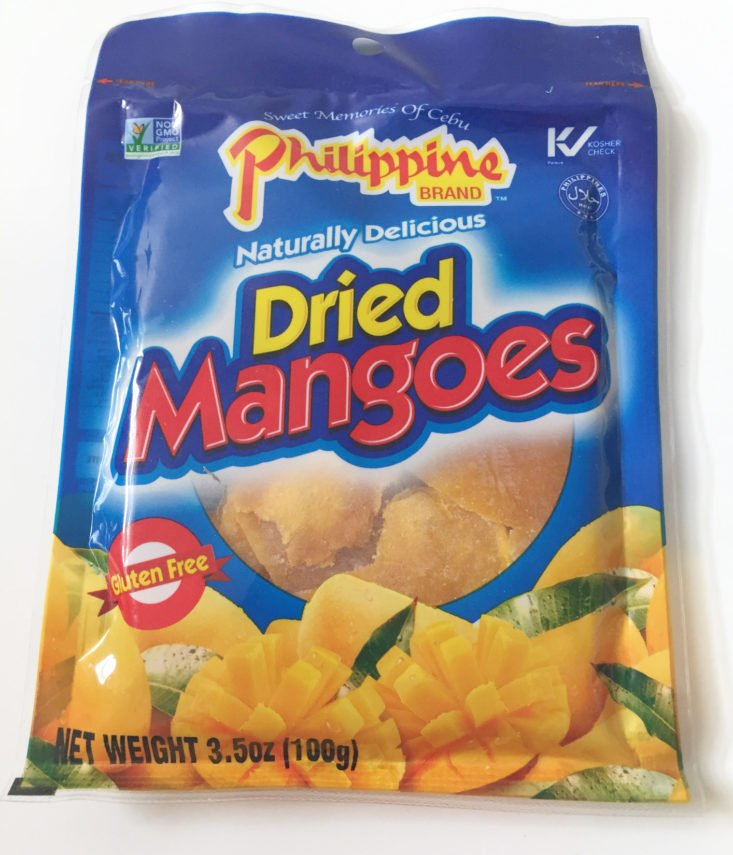Philippine Brand Dried Mangoes bag front