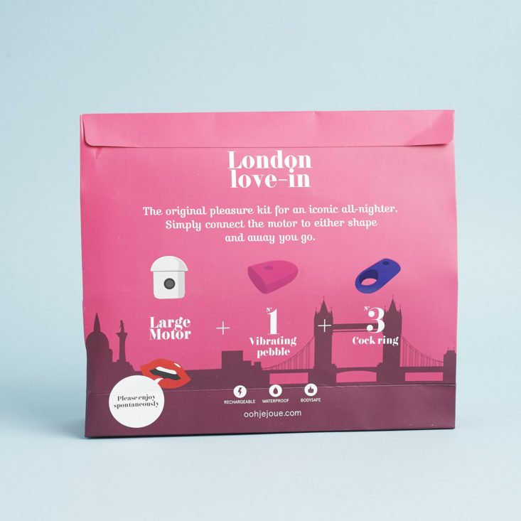 back of box for Ooh by Je Joue London Love-In Set
