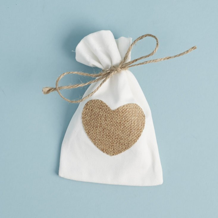 burlap heart gift bag