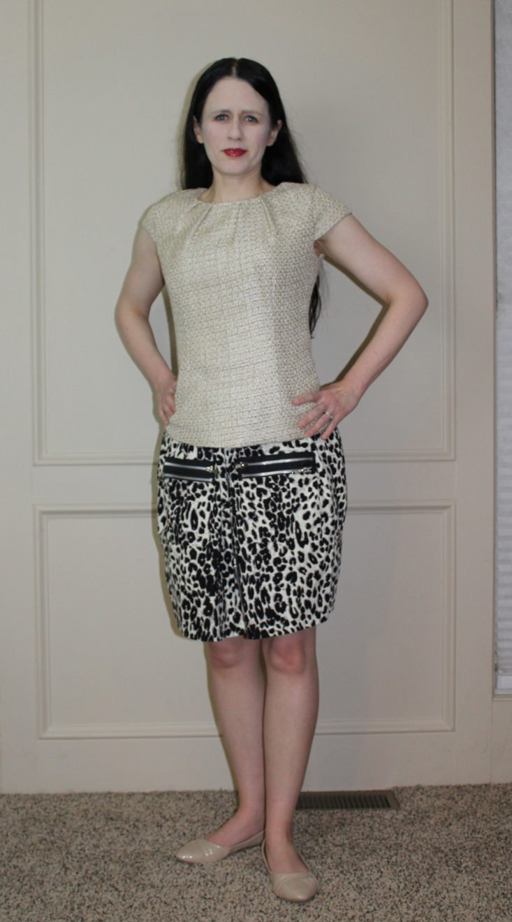 Elizabeth McKay Short Sleeve Blouse and Anna Sui Casual Skirt modeled
