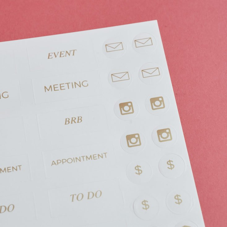 close up of Gold Foil CEO Stickers