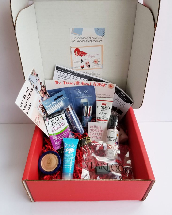 H2BAR Box March 2018 box inside