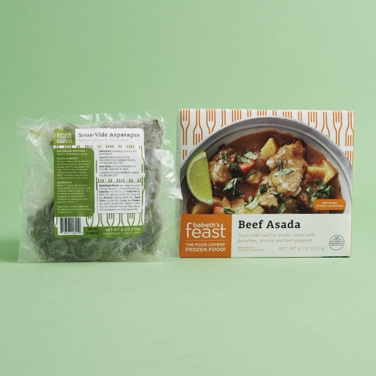 Beef Asada and sous-vide Asparagus