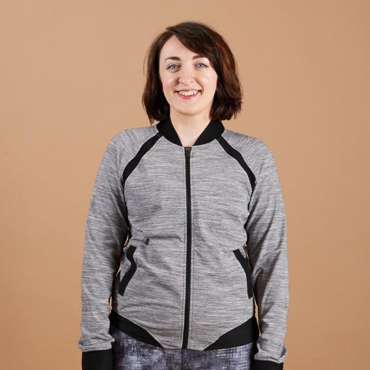 wantable fitness gray jacket