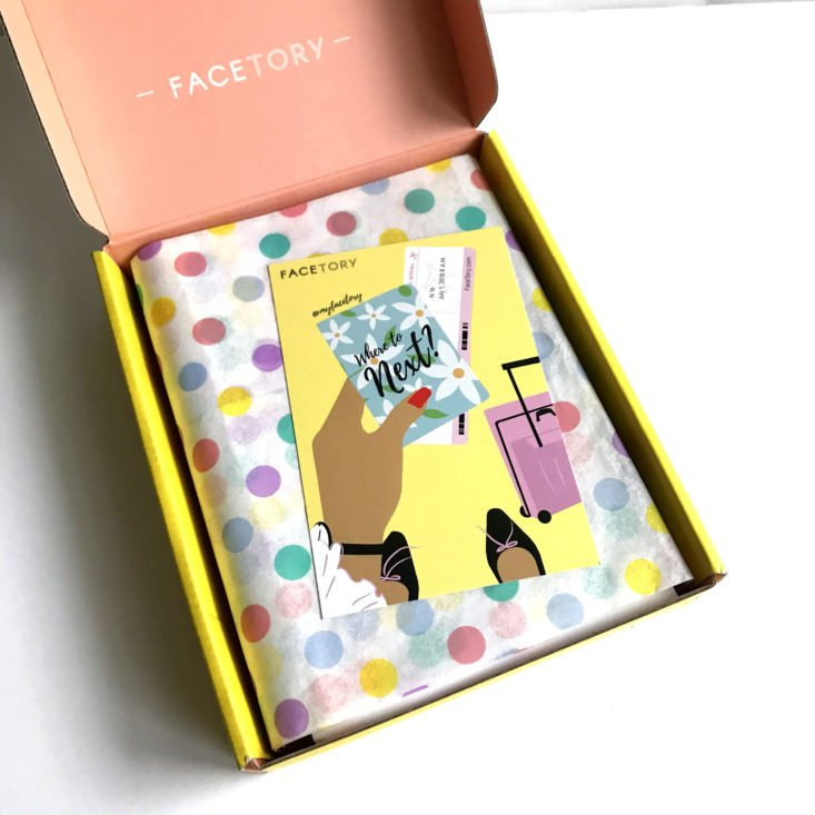 Facetory Seven July 2018 - Box inside