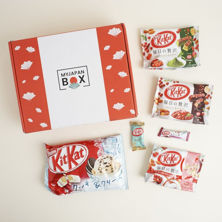 contents of July My Japan Box KitKat