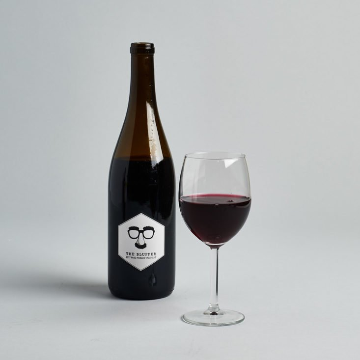 winc red wine modern label and glass