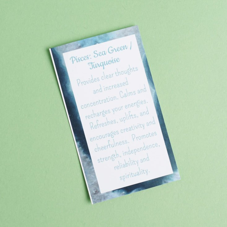 pisces sea green/turquoise card