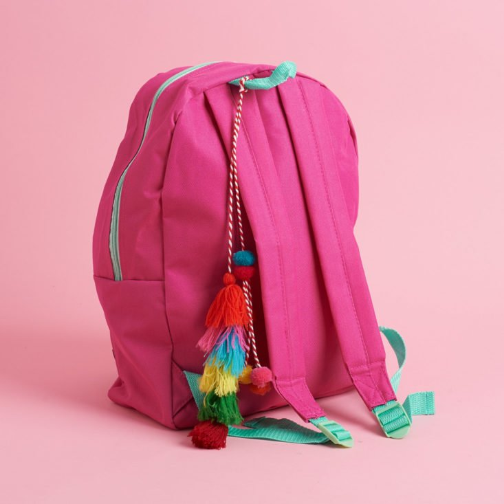 quirky crate backpack and tassel