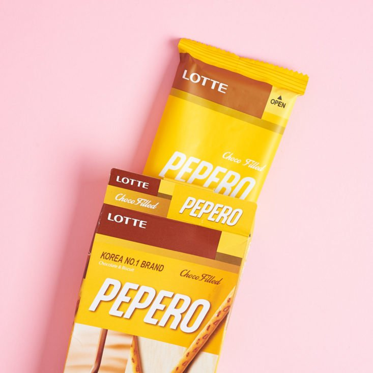 package comingout of Lotte Pepero Nude Cookie box