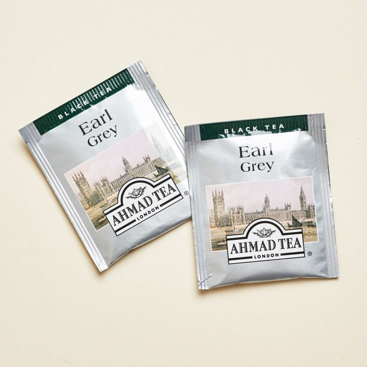 Vellabox Vivere September 2018 - Ahmad Tea Earl Grey Tea Bags Front