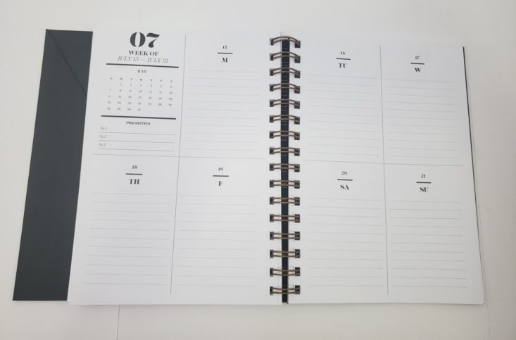 Cloth & Paper Box September 2018 - 2019 Planner Front 5