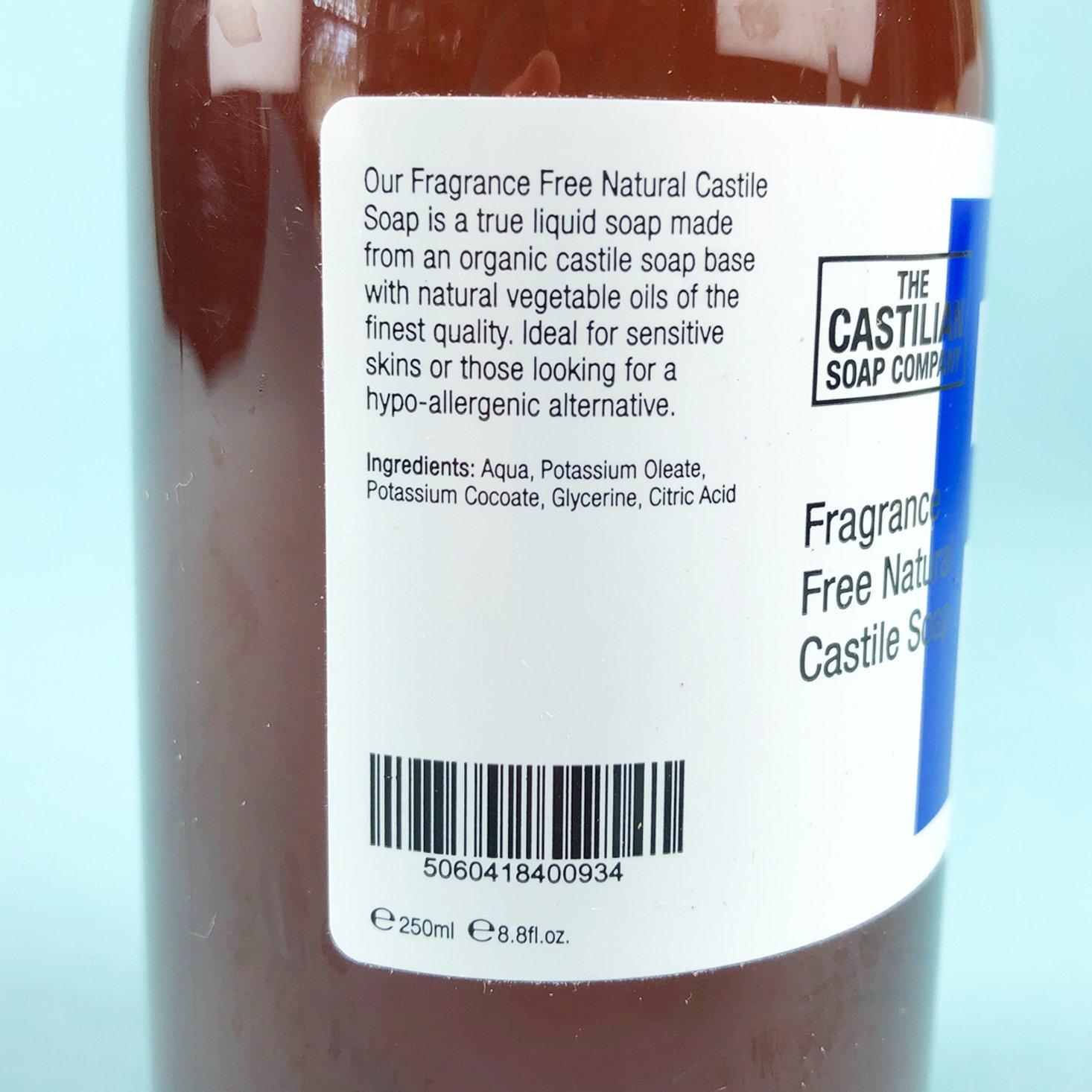 liquid soap ingredients
