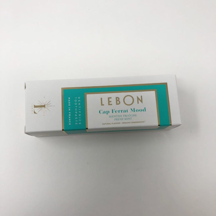 Switch 2 Pure October 2018 - Lebon Travel Size Toothpaste Top