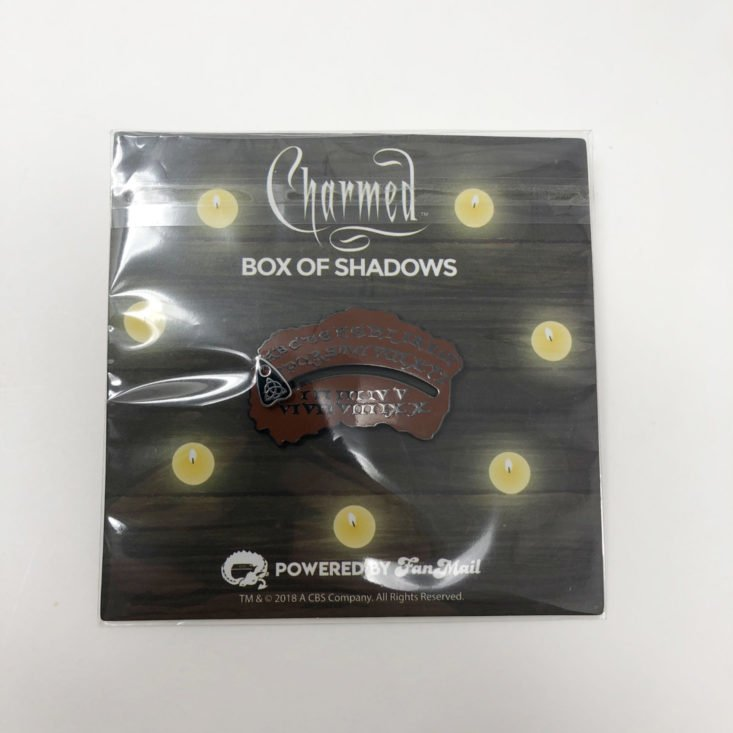 Charmed Box of Shadows October 2018 - Spirit Board Enamel Pin with Moveable Planchette