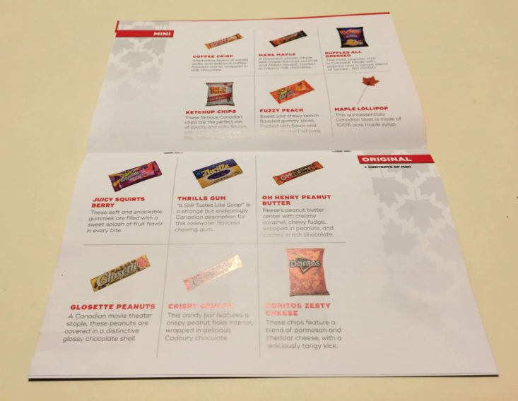Snack Crate Canada September 2018 - Card Middle
