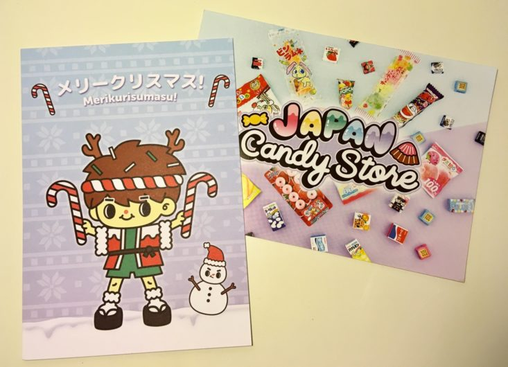 Japan Candy Box December 2018 - Information Cards Front Top