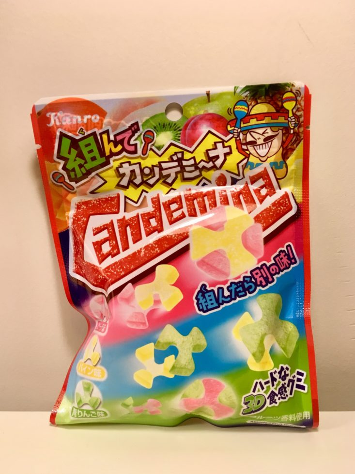 Japan Candy Box December 2018 - Kanro Candemina Assembly Sour Candies Fruit Mix Pouch Front