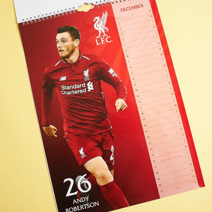 The Anfield Box 10 November 2018 - Wall Calendar 3 Front