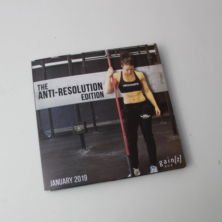 Gainz Box January 2019 - Booklet Top 1
