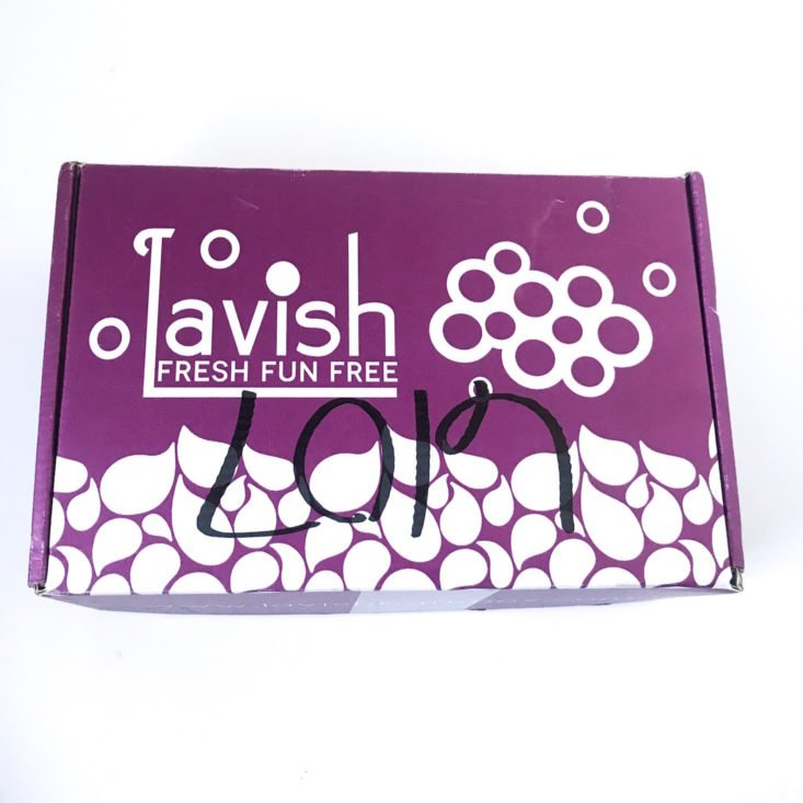 Lavish Bath January 2019 - Box Review Top