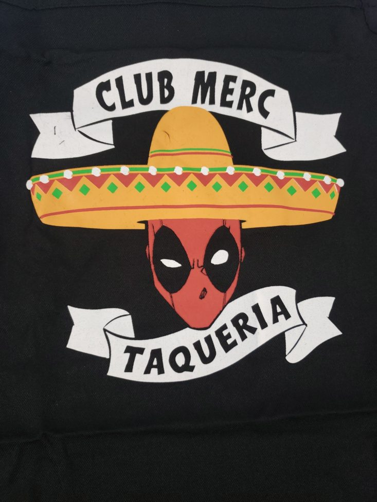 Loot Remix by Loot Crate January 2019 - Dead Pool Club Merc Taqueria Apron Logo Front